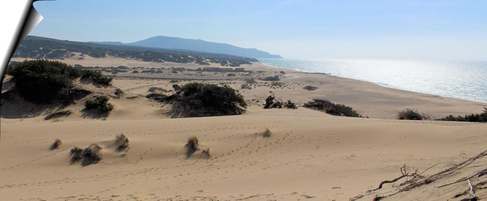 Piscinas - vista dalla dune